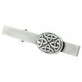 Celtic Trinity Knots Pewter Oval Tie Bar 9867